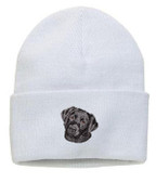 Black Labrador Retriever Knit Cap