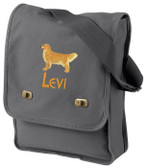 Golden Retriever Field Bag Font shown on bag is BEARTRAP
