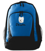 Westie Backpack Font Shown on Backpack is SEAGULL SCRIPT