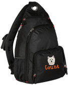 West Highland White Terrier Sling Pack Font Shown on Bag is MOPED