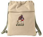 Barrel Racing Cinch Bag Font Shown on Bag is GROOVY