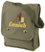 Barrel Racing Field Bag Font Shown on Bag is BELVEDERE