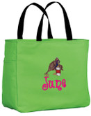 Barrel Racing Tote Bag Font Shown on Bag is ANGELIC