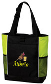 Barrel Racing Tote Bag Font Shown on Bag is BOING