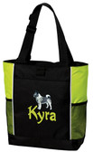Norwegian Elkhound Tote Font Shown on Bag is SPLASH