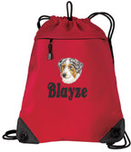 Australian Shepherd Bag Font shown on bag is BELVEDERE