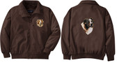 Australian Shepherd Jacket Left Chest & Back