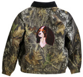 Cavalier King Charles Mossy Oak® Jacket - Camouflage Embroidered Back