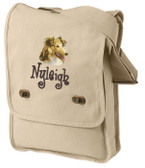 Shetland Sheepdog Field Bag Font shown on bag is ANGELIC