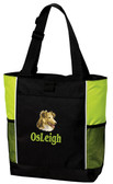 Shetland Sheepdog Sheltie Tote Font shown on bag is ROAD WARRIOR