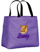 Shetland Sheepdog Sheltie Tote Font shown on bag is BALLPARK