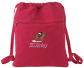 Horse Racing Cinch Bag
