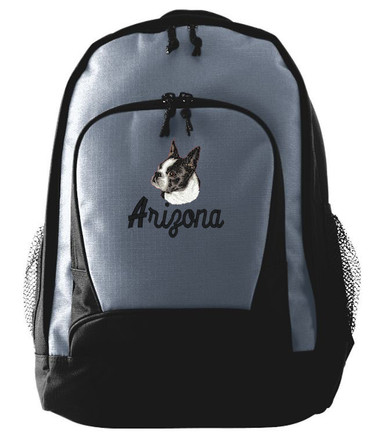 boston terrier backpack personalized boston terrier backpack 6326