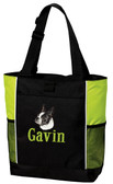 Boston Terrier Tote Font shown on bag is KANTORE