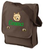 Norwich Terrier Field Bag Font shown on bag is LEOPOLD