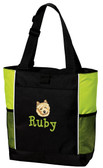 Norwich Terrier Tote Font shown on bag is MOPED