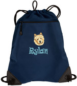 Norwich Terrier Bag Font shown on bag is RAVEE