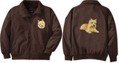 Norwich Terrier Jacket Back and Front Left Chest