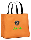 Rottweiler Tote Font shown on bag is SCRIPT