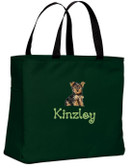 Yorkshire Terrier Tote Font shown on bag is TWIRL