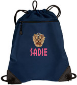 Yorkshire Terrier Bag  Font shown on bag is SUMMER CAMP