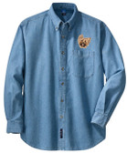 Yorkshire Terrier Denim Shirt Front Left Chest