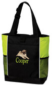 Pug Tote Font shown on bag is RUSS TIMES
