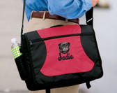 Pug Bag Font shown on bag is MESSENGER SCRIPT