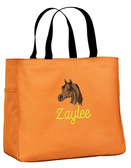 Arabian Tote Bag Font shown on bag is MANILA