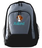 Beagle Backpack Font shown on bag is BEVERLY