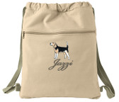 Beagle Bag Font shown on bag is BICKER SCRIPT