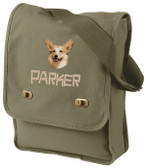 Corgi Field Bag Font shown on bag is CAVEMAN