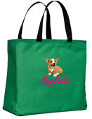 Corgi Tote Font shown on bag is CIN SCRIPT