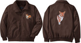 Corgi Jacket Back & Front Left Chest
