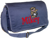 Personalized Pirate Bear Diaper Bag Font shown on bag is ROAD WARRIOR