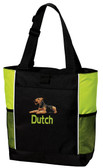 Airedale Terrier Tote Font shown on bag is HANZELA