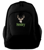 Deer Backpack Font shown on backpack is BEECH