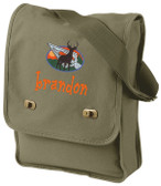 Deer Bag Font shown on bag is BEDROCK