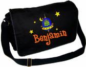 Personalized Alien Diaper Bag Font shown on bag is BOYZ