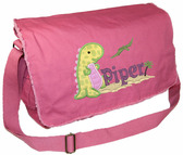 Personalized Walking Dinosaur Applique Diaper Bag