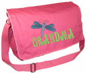 Personalized DRAGONFLY Diaper Bag Font shown on diaper bag is GROOVY