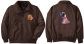 Rhodesian Ridgeback Jacket Front Left Chest and Back