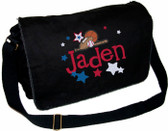 Personalized All Star Diaper Bag Font shown on diaper bag is IMPERVIOUS
