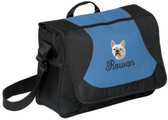 French Bulldog Computer Bag Font shown on bag is DIANE SCRIPT