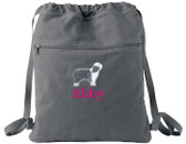 Bearded Collie Bag Font shown on bag is IVORY TOWER