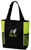 Bearded Collie Tote Font shown on bag is KANTORE