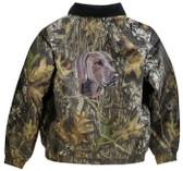 Weimaraner Jacket Back