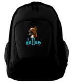 Boxer Backpack Font shown on bag is BEDROCK