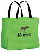 German Shorthair Tote Font shown on bag is IVORY TOWER