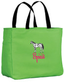 Appaloosa Tote Bag Font shown on bag is JOSEPHINE
